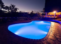 Pool at Night, Tongole Wilderness Lodge, Nkhotakota