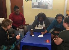 Volunteer Encounter SA teaching adults in Cape Town