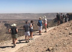 Hiking the Fish River Canyon on Wild Dog Safaris