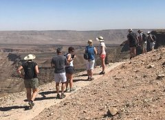 At Fish River Canyon on Wild Dog Safaris Overland Tour