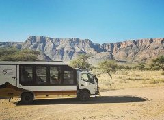 Wild Dog Safaris bus and overland vehicle in Namibia