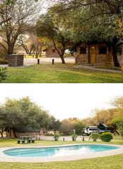 Woodlands Stop Over's chalets and camping in Francistown