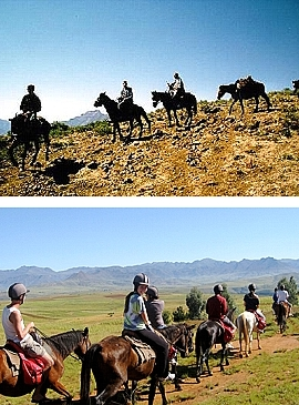 Pony Trekking in the mountains of Lesotho